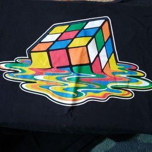 Rubik's cube melting cube tee